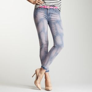 Hudson Nico Mid Rise Cropped Ankle Zip Skinny Jean